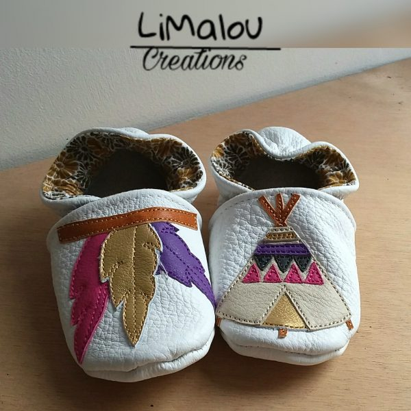 Chaussons cuir indiens limalou