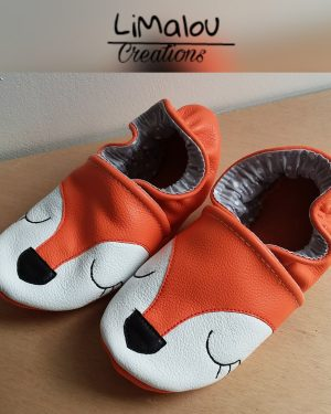 Chaussons cuir renard limalou