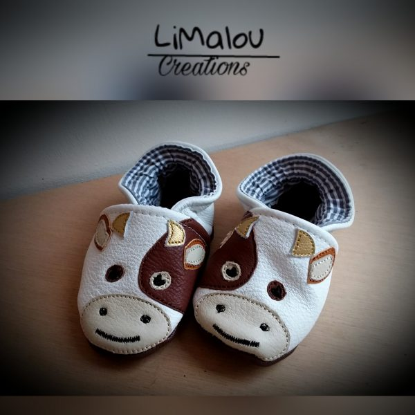 Chausson cuir vaches limalou