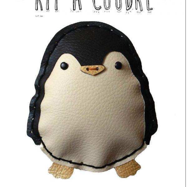 kit a coudre enfant pingouin simili limalou