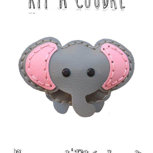 kit a coudre éléphant simili limalou