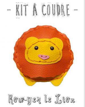 kit a coudre lion simili limalou