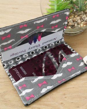patron de couture - mini porte cartes - limalou