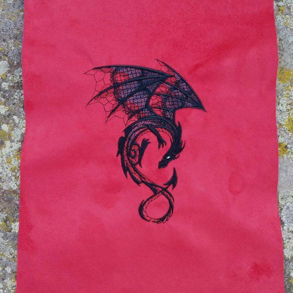 Coupon brodé dragon limalou
