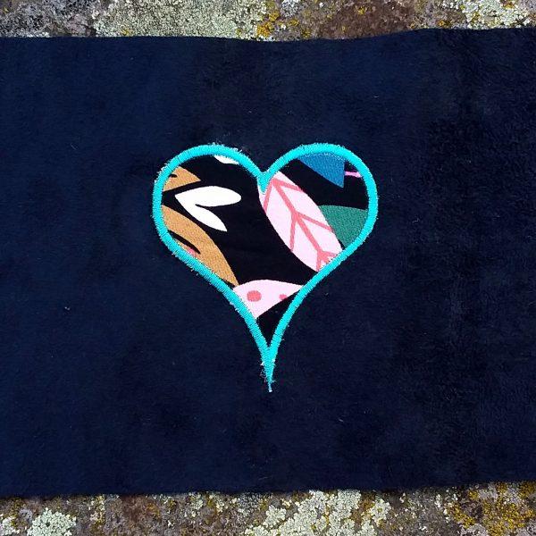 Coupon brodé coeur bleu limalou