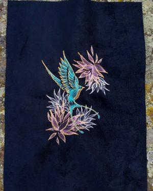 Coupon brodé colibri limalou