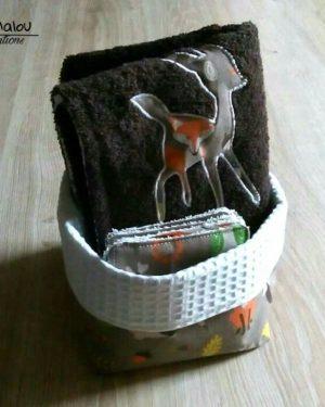 Panière en tissu limalou