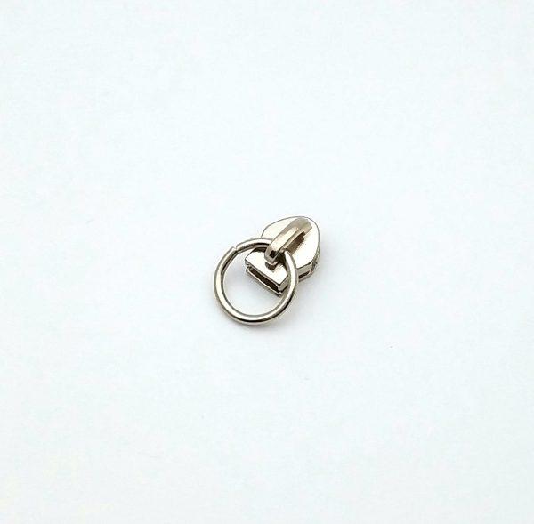 Curseur métal - Argenté avec anneau limalou