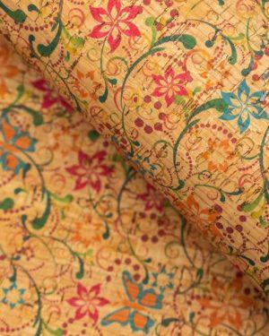 Coupon de liège - Fleurs et arabesques limalou