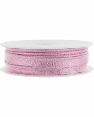 Passepoil lamé rose clair limalou