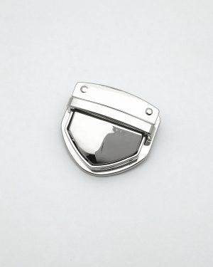 Grand fermoir cartable métal argenté limalou