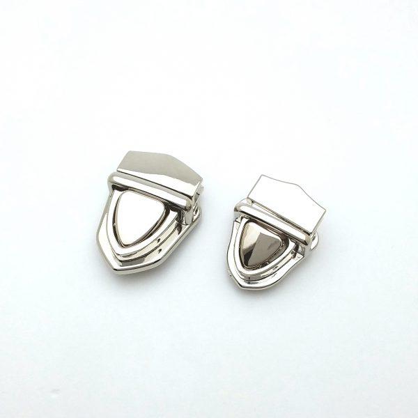 Fermoir cartable métal argenté limalou