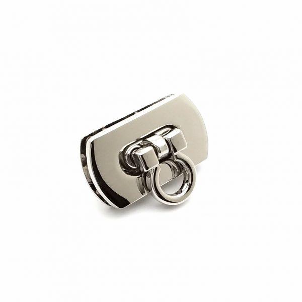 Fermoir pliable en métal argenté limalou