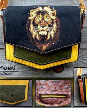 Besace Géométrique - Lion limalou