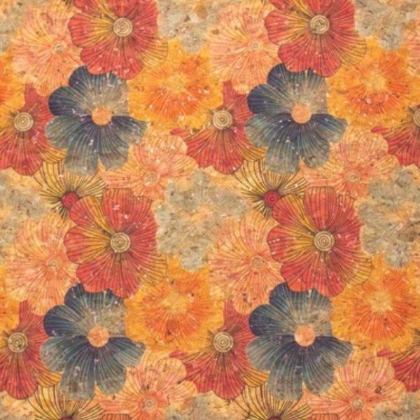 Liege grosses fleurs multicolores limalou